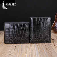 Genuine crocodile wallet men leather Luxury alligator skin wallet short bifold purse Fashion small slim wallet for man BEST GIFT