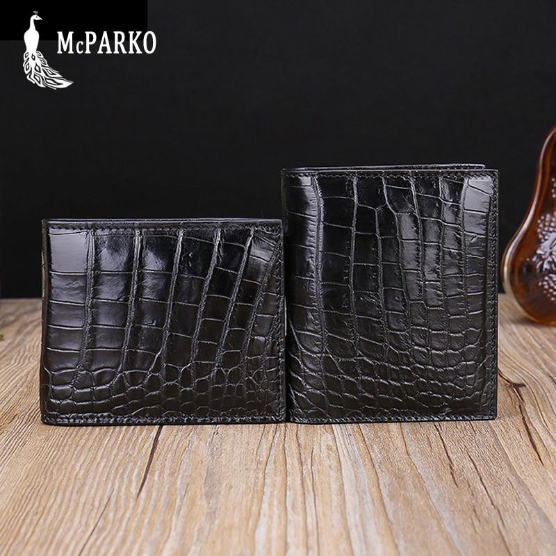 Véritable crocodile portefeuille hommes en cuir De Luxe portefeuille en cuir d'alligator court pliante sac à main De Mode petit portefeuille mince pour homme MEILLEUR CADEAU