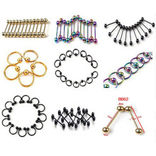 Mix Piercing Wholesales 70Pcs/lot Stainless Steel Eyebrow Piercings Belly Button Rings Nose Rings Tragus Piercing Body Jewelry mix lot wholesales 80pcs stainless steel eyebrow piercing belly button rings naval ear nose rings lip tongue body jewelry gold