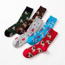 Funky Dog,Pet,Pug,Shiba Inu,Beagle,Buldog Socks Novelty Hosiery Women Ladies Socks Men Unisex Winter Cotton Happy Socks Female(China)