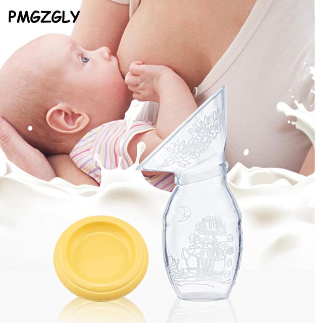 100ml Manual Breast Pump Accessories Silicone Maternal Milk Collector Holder Baby Breastfeeding Bottle Puerperal Nursing Pump