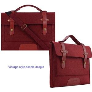 Image 3 - MOSISO 13.3 14 15 15.6 inch Felt Laptop Bag Case for Macbook Asus Dell HP Women Notebook Messenger Shoulder Handbag Briefcase Me
