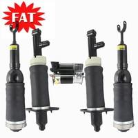 5PCS/Set Front Rear Air Suspension Shock Strut Air Suspension Compressor For Audi A6 C5 Allroad 4Z7616051D 4Z7616051A 4Z7616007A