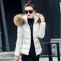 Cuello de piel sintética parka chaqueta de algodón chaqueta de invierno las mujeres gruesas chaquetas parkas desgaste nieve abrigo de señora clothing femenino