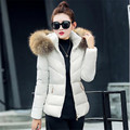 Fake fur collar Parka down cotton jacket  Winter Jacket Women thick Snow Wear Coat Lady Clothing Female Jackets Parkas