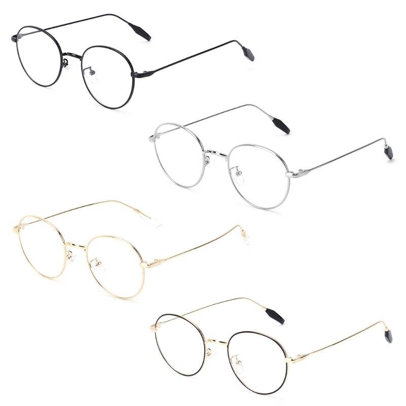 1 Stück Retro 2018 Optische Gläser Brillen Klassische Ultraleicht Kurzsichtige Objektiv Klar Brillen Metall Rahmen Brillen W15 BerüHmt FüR AusgewäHlte Materialien, Neuartige Designs, Herrliche Farben Und Exquisite Verarbeitung