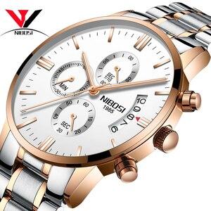 Image 4 - NIBOSI Relogio męski zegarek mężczyźni złoty i czarny męskie zegarki Top marka luksusowe zegarki sportowe 2019 Reloj Hombre wodoodporny
