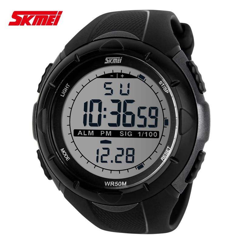 sprzedaż usa online rozmiar 7 najlepsze buty 2018 nowy Skmei marka mężczyźni cyfrowy zegarek wojskowy LED, 50 M  nurkowania pływać sukienka zegarki na rękę zegarki sportowe moda na zewnątrz