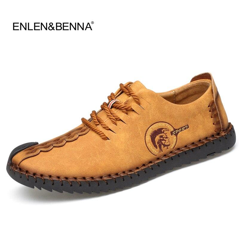 2017 Handmade Leather Shoes Casual Men Shoes Fashion Men Flats Exquisite design Non-slip Comfortable Men Casual Shoes Loafers