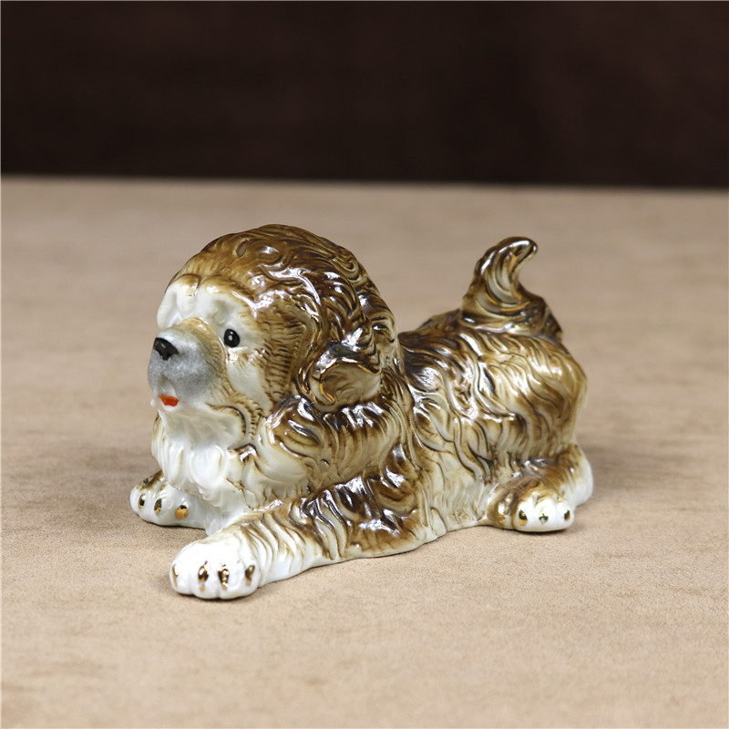 Art Blown Glass Figurine of the Tibetan Mastiff dog
