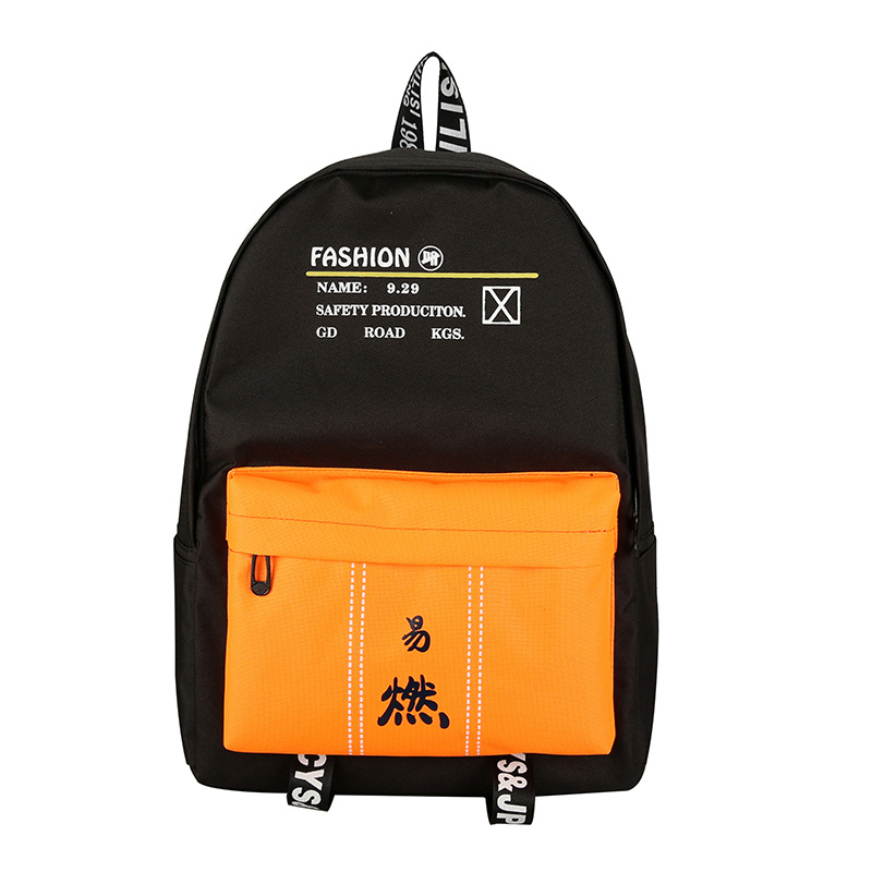 Cool Backpack Rucksacks Mochila Schoolbag Large-Capacity Women Hip-Hop Canvas for Student