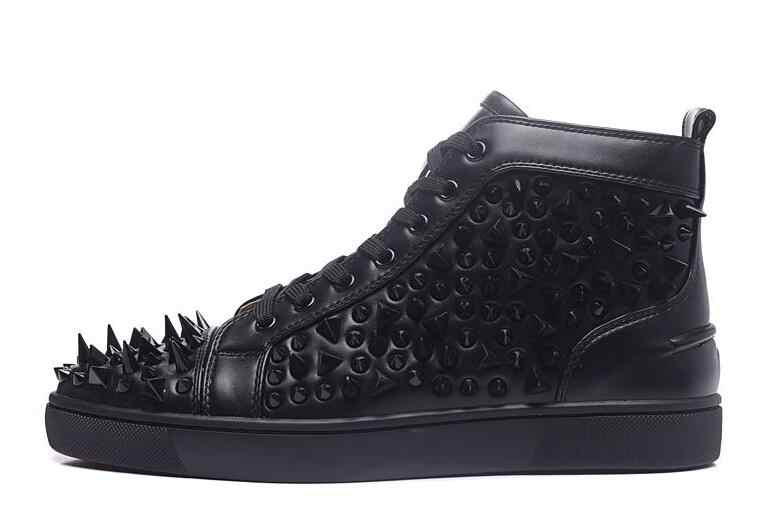 149397a82620 ... Handmade Luxury Shoes Men Black Spikes Shoes High Top Fashion Designers  Shoes Brand Men Loafers Nightclub ...