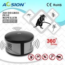 цена на Aosion Indoor 360 degree electronic ULTRASONIC  pest repeller mouse repeller, rat repeller