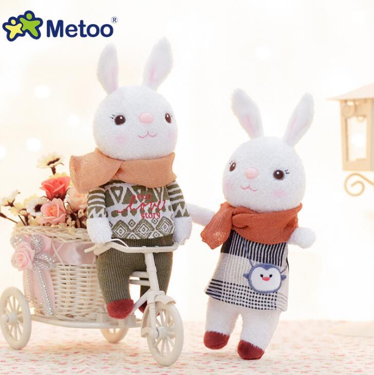 22cm Plush Sweet Cute Lovely Stuffed Pendant Baby Kids Toys for Girls Birthday Christmas Gift Tiramitu Rabbits Mini Metoo Doll