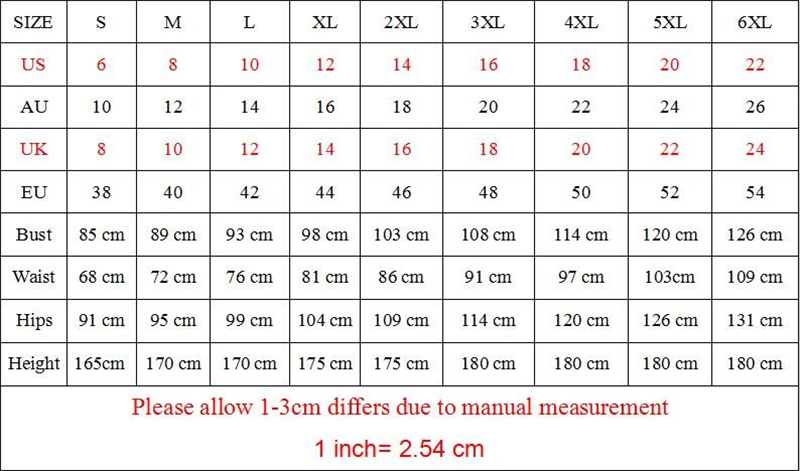 size chart for  use