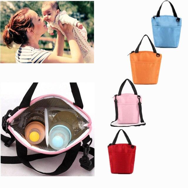 Материнской младенческая поставки мода Мать сумка Детские молочные бутылки теплоизоляция сумка Водонепроницаемый Рюкзак Открытый переносная сумка