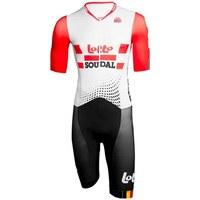 2019 pro team soudal red aero Cycling skinsuit one piece Short sleeve summer bodysuit bike clothing MTB Ropa Ciclismo speedsuit