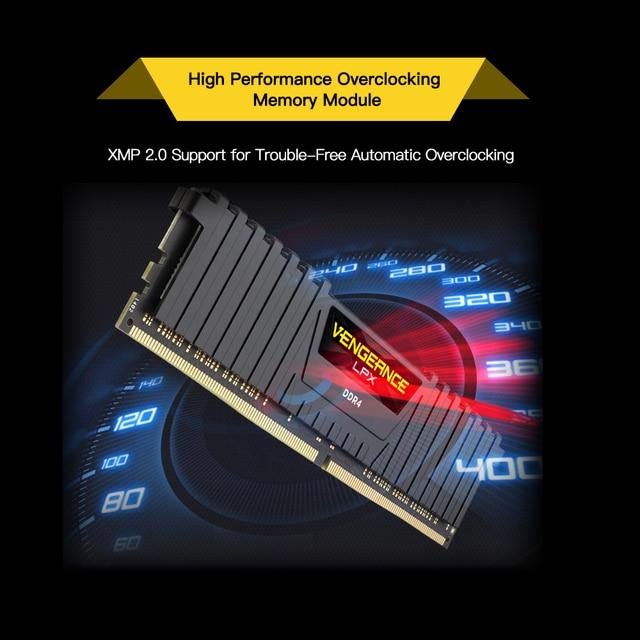 CORSAIR месть LPX 8 Гб оперативной памяти, 16 Гб встроенной памяти, DDR4 PC4 2400 МГц 3000 3200 модуль Mhz 2400 3000 ПК жарки операционной памяти высокий процент ОЗ... 5