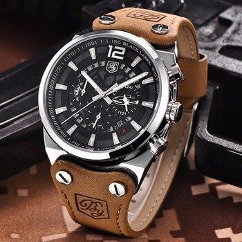 BENYAR Large dial design Chronograph Sport Mens Watches Fashion Brand Military waterproof Quartz Watch Clock Relogio Masculino 4