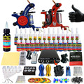 Solong Tattoo Complete Tattoo Kit for Beginner Starter 2 Pro Machine Guns 28 Inks Power Supply Needle Grips Tips TK204-35