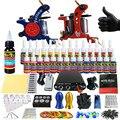 Solong Tattoo Kit Completo para Tatuagem Iniciante Iniciado Pro 2 Metralhadoras 28 Tintas Alimentação Agulha Grips Dicas TK204-35