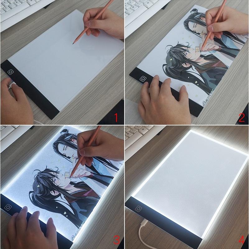 A4 nível pode ser escurecido led desenho cópia almofada placa de brinquedo das crianças pintura educacional crianças crescer playmate presentes criativos para crianças 2