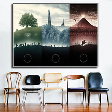 LOTR Middle Earth The Lord Of Rings Canvas Prints Picture Modular Painting For Living Room Poster On Wall Home Decor