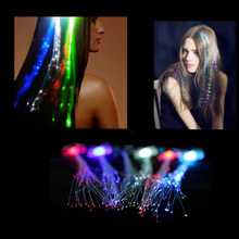 Intermittierende Glow Haar Clip-LED Braid Party Zeigen Bunte Licht Dekoration Braid Glasfaserkabel Gabel(China)