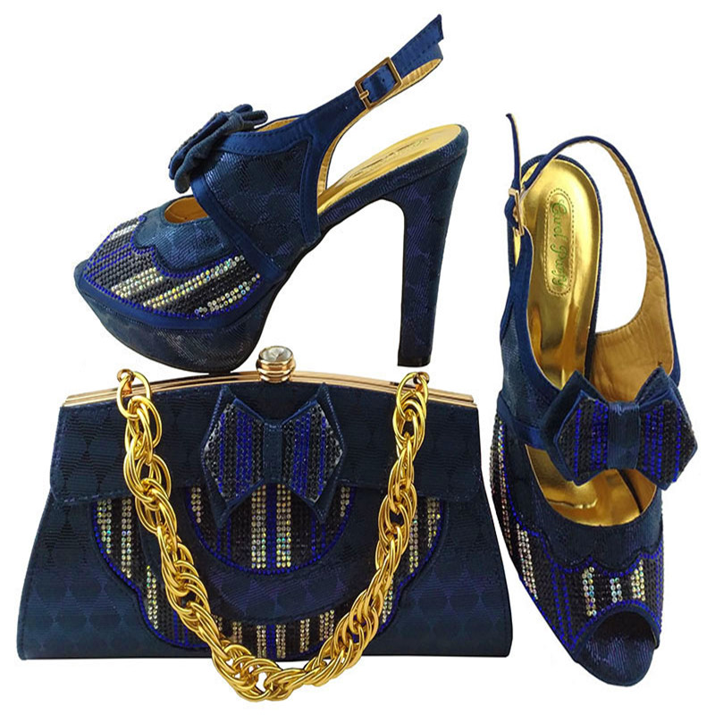 African Shoes High Heels With Stones Italian Shoes And Matching Bags Set For Party High Quality Women Shoes And Bags Set MM1038 doershow italian shoes with matching bags for party high quality african shoes and bags set for wedding shoe and bag pys1 10