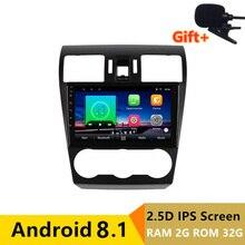 9 «2 + 32 г 2.5D ips Android 8,1 автомобильный DVD мультимедийный плеер gps для Subaru Forester XV WRX 2012 2014-2016 Радио Стерео навигация