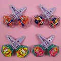 2Pcs/lot Cartoon print Elastic Hair Bands Baby  Rubber Band Hair Rope Ponytail Holder for Kids Girl