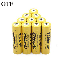 GTF 3.7V 9800mah 18650 Battery Li-ion Rechargeable for LED Flashlight Torch or Electronic Gadgets Batteria Drop shipping