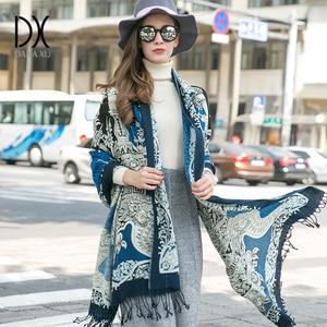 Image 5 - 2019 Fashion Scarves and Shawls Women Brand Scarf Wool Pashmina Wrap Winter Warm Cape Poncho Face Shield Bandana Muslim Hijab