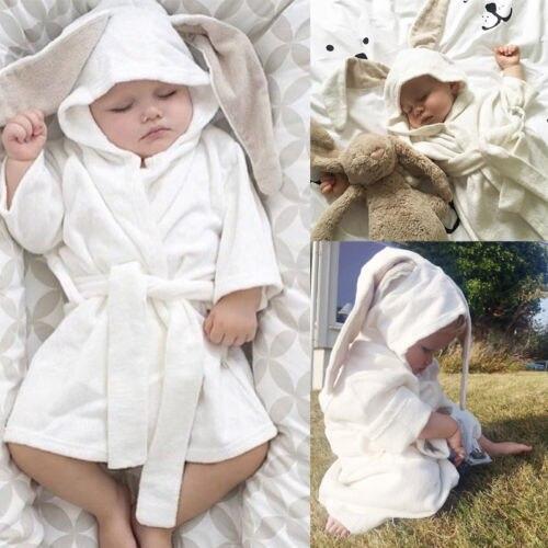 Boy Girl 3D rabbit shower Towel Robes Baby Toddler Kids Hooded Bath ...