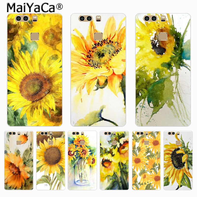 MaiYaCa Watercolor painting sunflower On Sale Phone Case for HUAWEI P6 P7 P8 P9 P10 P10 Plus For XIAOMI 3 4 REDMI 2 Note2