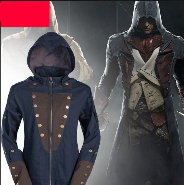 239c2ac51 US $69.99 |Hot Assassin's Creed Unity Arno Dorian Jacket Hoodie Coat  Costume Cosplay Men Long Sleeve Casual Wear-in Men's Costumes from Novelty  & ...
