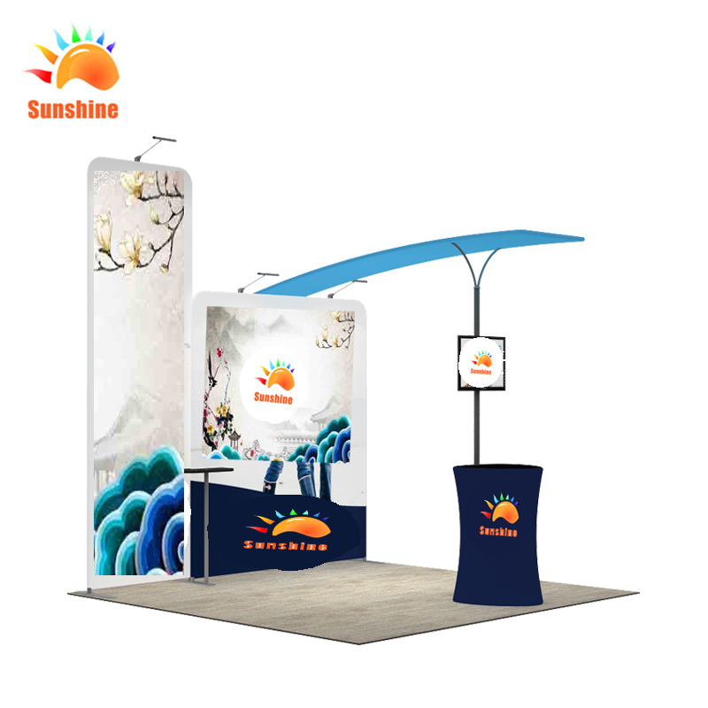 Pop up fabric display exhibition booth trade show display stands custom size