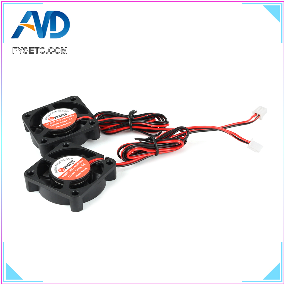 2pcs Super Silent DC 24V 4010 Cooling Fan 40x40x10mm 0.08A Hydraulic Bearing Radiator For Creality Ender-3 3D Printer Parts