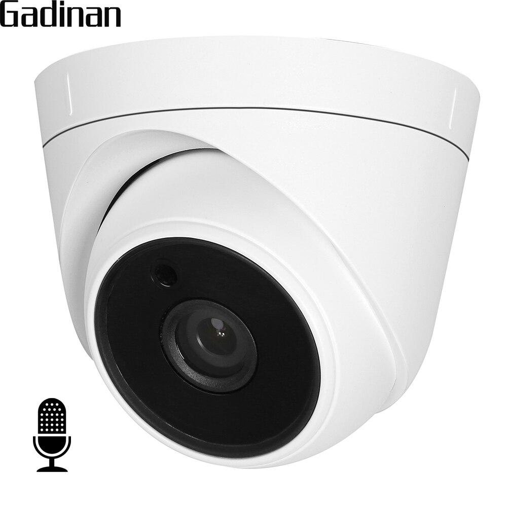 GADINAN interno de Audio cámara IP 720 p 960 P Hi3518EV200 Domo interior de vigilancia de la cámara de vídeo vmeyesuper de CMS DC 12 V 48 V PoE opcional