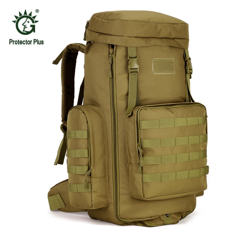 Large Backpack Tactical 70-85L Double Shoulder Bag Waterproof Backpack Nylon Big Volume Travel Camping Climbing Hiking Backpack nylon double shoulder bag backpack