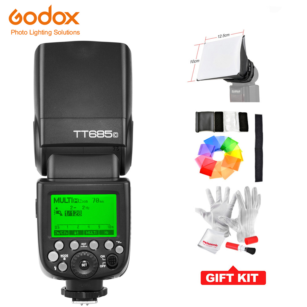 Godox TT685C GN60 Вспышка Speedlite E TTL II автовспышка для CANON 60D 70D 6D 7D 650D 550D 600D40D 50D 450D + подарок комплект