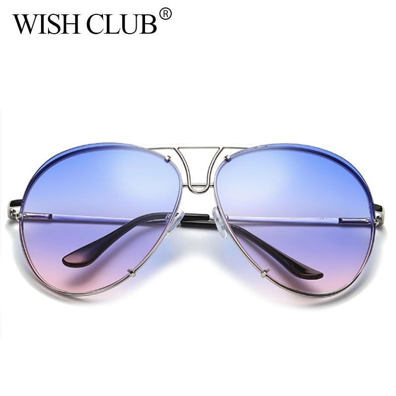 WISH CLUB Fashion Aviator Sunglasses For Women Vintage ...