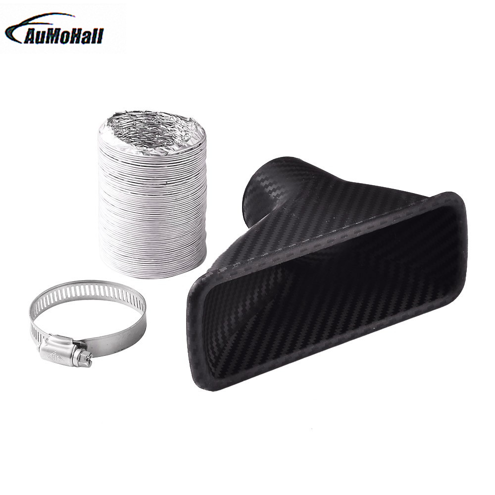 AUMOHALL 1Kit Universal Car Turbo Air Intake Pipe Turbine Inlet Pipe Air funnel ABS Around 4.5CM Diameter
