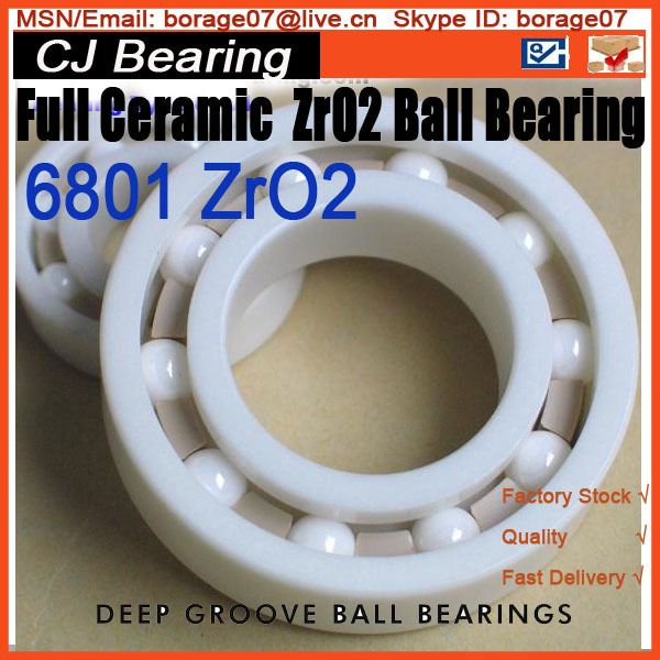 61801 6801 zro2 12*21*5mm full ceramic ball thin section bearings цена