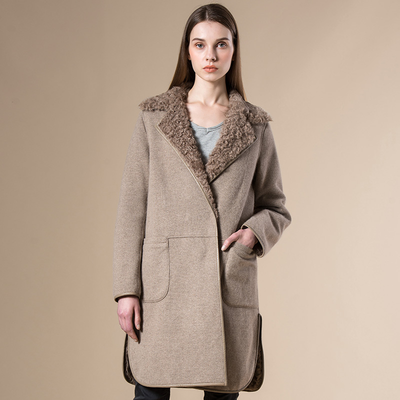Popular Long Shearling Coat-Buy Cheap Long Shearling Coat lots ...