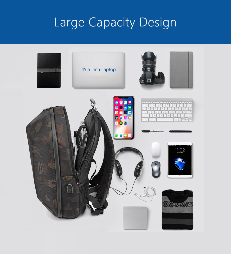 "HTB10 uIaLfsK1RjSszbq6AqBXXaW - OZUKO Men 15.6"" Laptop Backpack Fashion Waterproof Teenager Schoolbag"