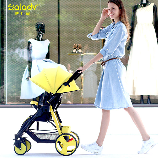 Салли зонтик автомобиль детская коляска зимой и летом рука может сидеть и лежать складной коляски 5.9 кг коляска