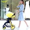 Sally coche paraguas cochecito de bebé en el invierno y el verano de mano puede sentarse y acostarse cochecito plegable 5.9 kg cochecito de niño