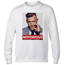 Conor Mcgregor Hoodies Men Hot sale Casual White Mcgregor Sweatshirts Classic Spring Basic Hoody Male White Plus Size Hoodie
