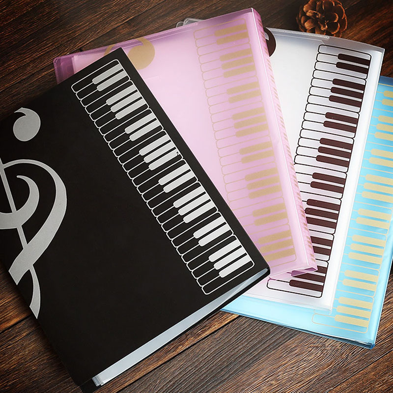 Music Score Book 80 Sheets Insert-type Folder File A4 Folder Music Score Book Folders Document Organizer Storage Accessories